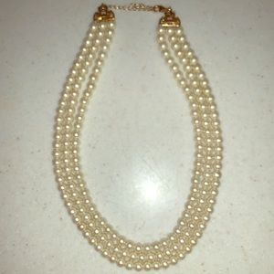 Banana Republic Three Strand Pearl Necklace